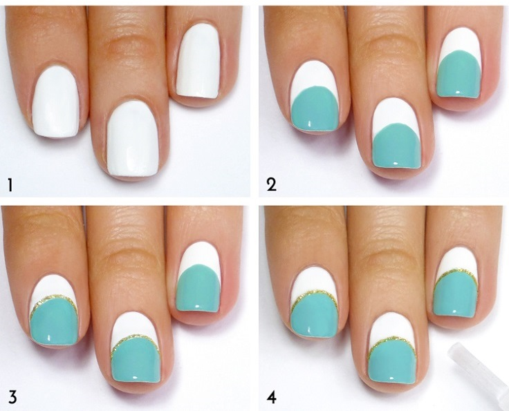 Mint-White-and-Gold-Striped-Mani-Tutorial - Copy 2