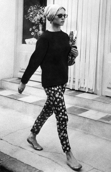 Brigitte Bardot floral pants ballet flats 6ec1c