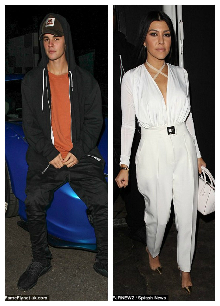 justin bieber kourtney kardashian new showbiz couple cffc8