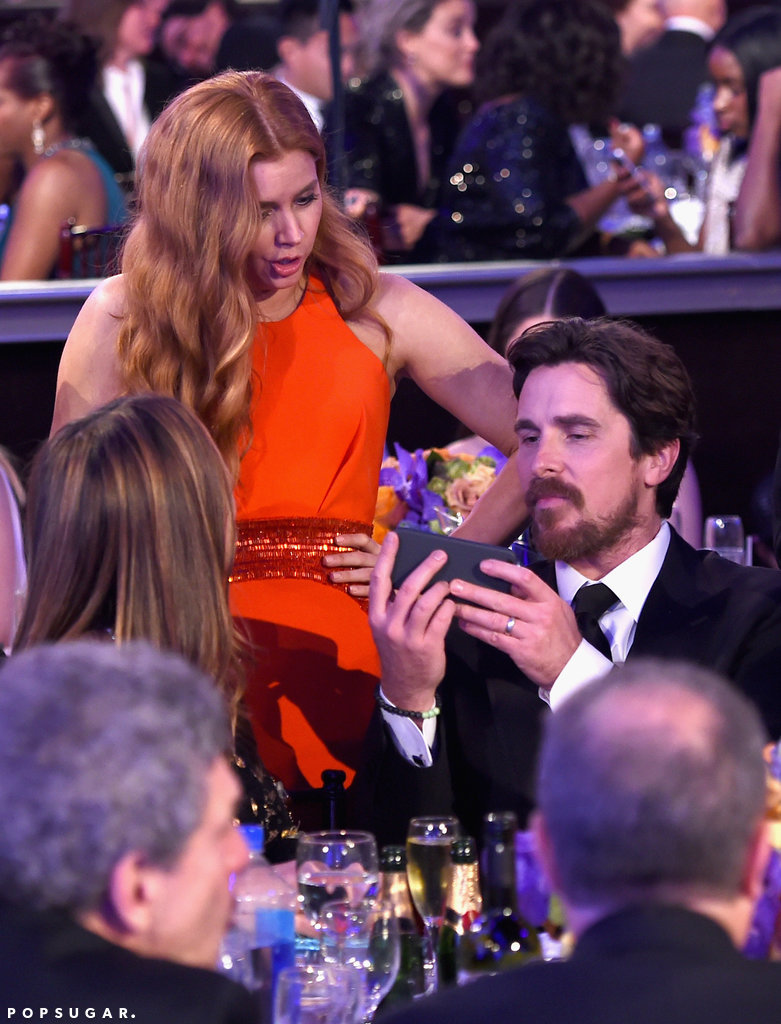 Amy Adams surprised something Christian Bale phone a6bd9