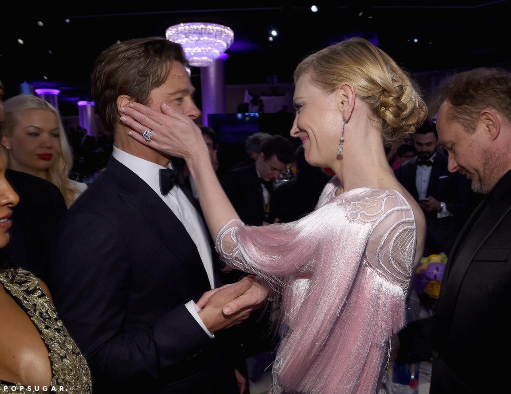 Cate Blanchett held Brad Pitt face her hands caught up after show 81ec3