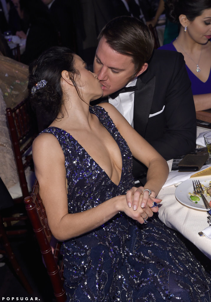 Channing Tatum Jenna Dewan Tatum shared sweet kiss seats d939e