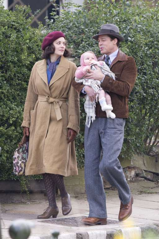 Brad Pitt and Marion Cotillard film the new Robert Zemeckis movie Five Seconds of Silence 23a2b