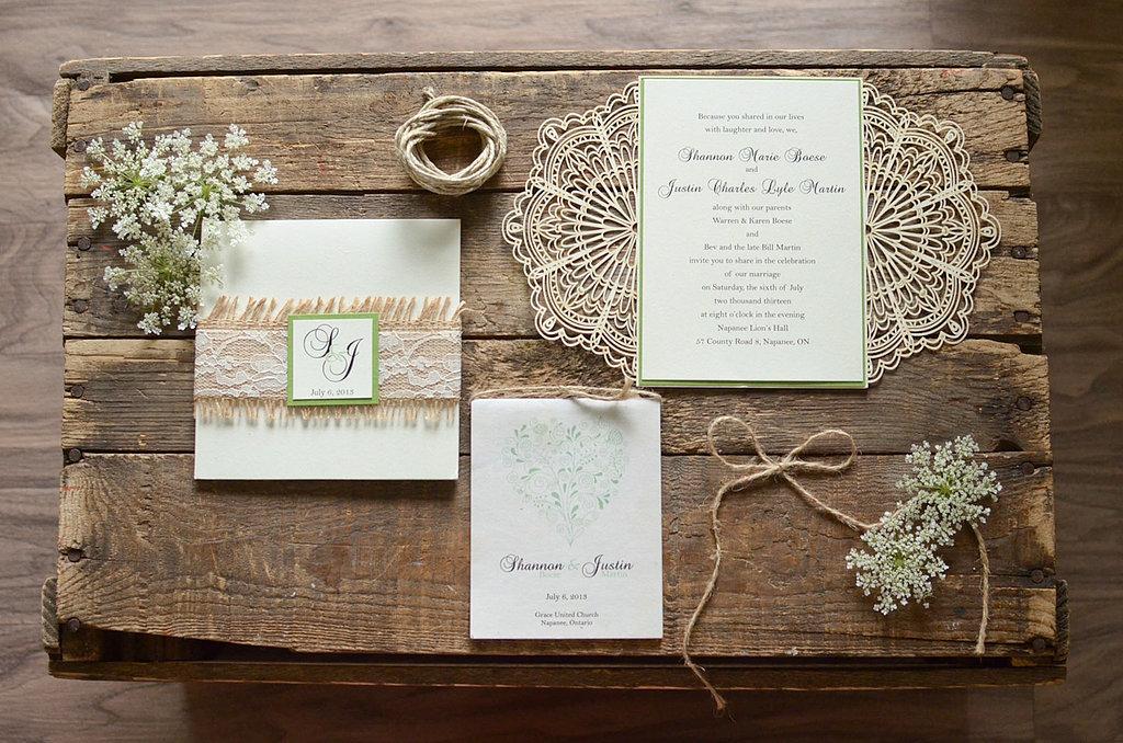 Accent invitations lace twine f641b