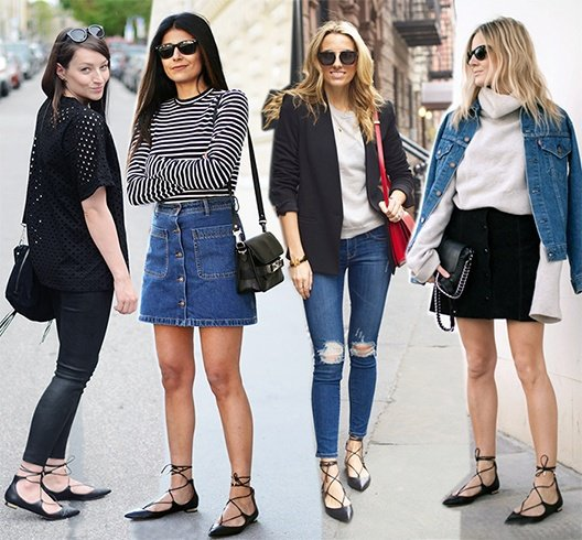 lace up flats outfits