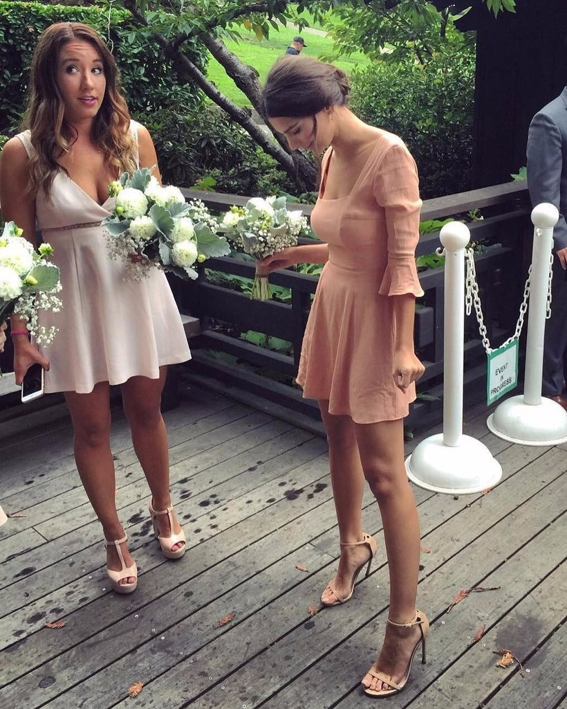 Emily Ratajkowski Bridesmaid Dress Instagram Oct 2016