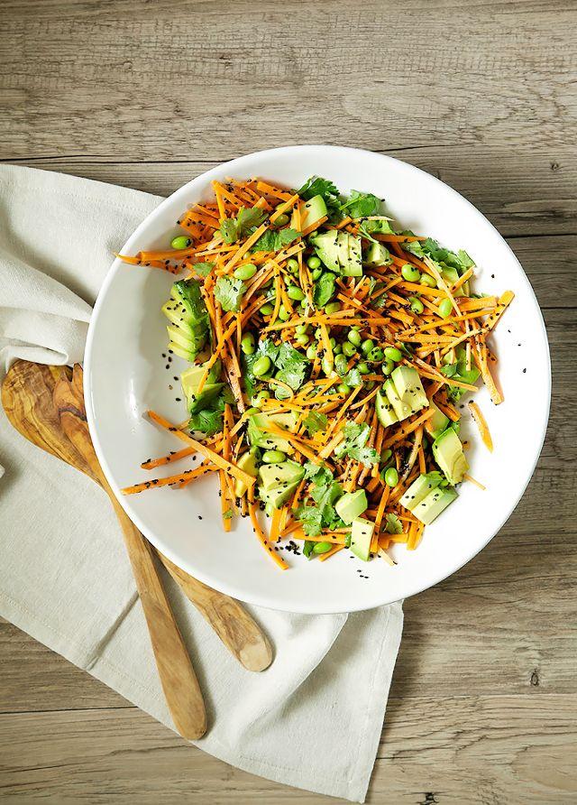salata me ginger kai avocado