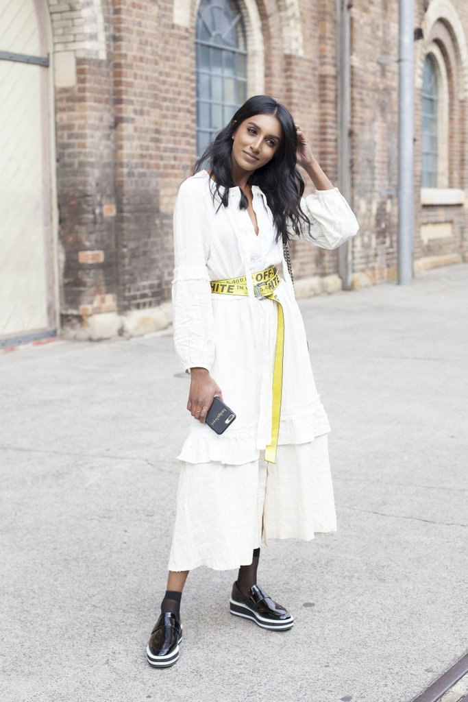 Make unexpected statement looping loud vibrant belt around