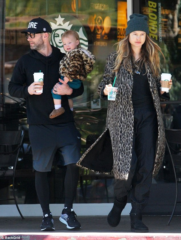 497625E000000578 5420365 Behati Prinsloo was pictured out on Wednesday with husband Adam m 58 1519264287859